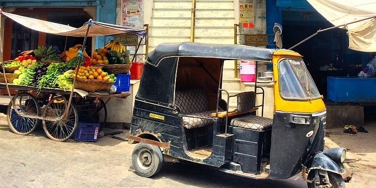 como es viajar en Rickshaw en India