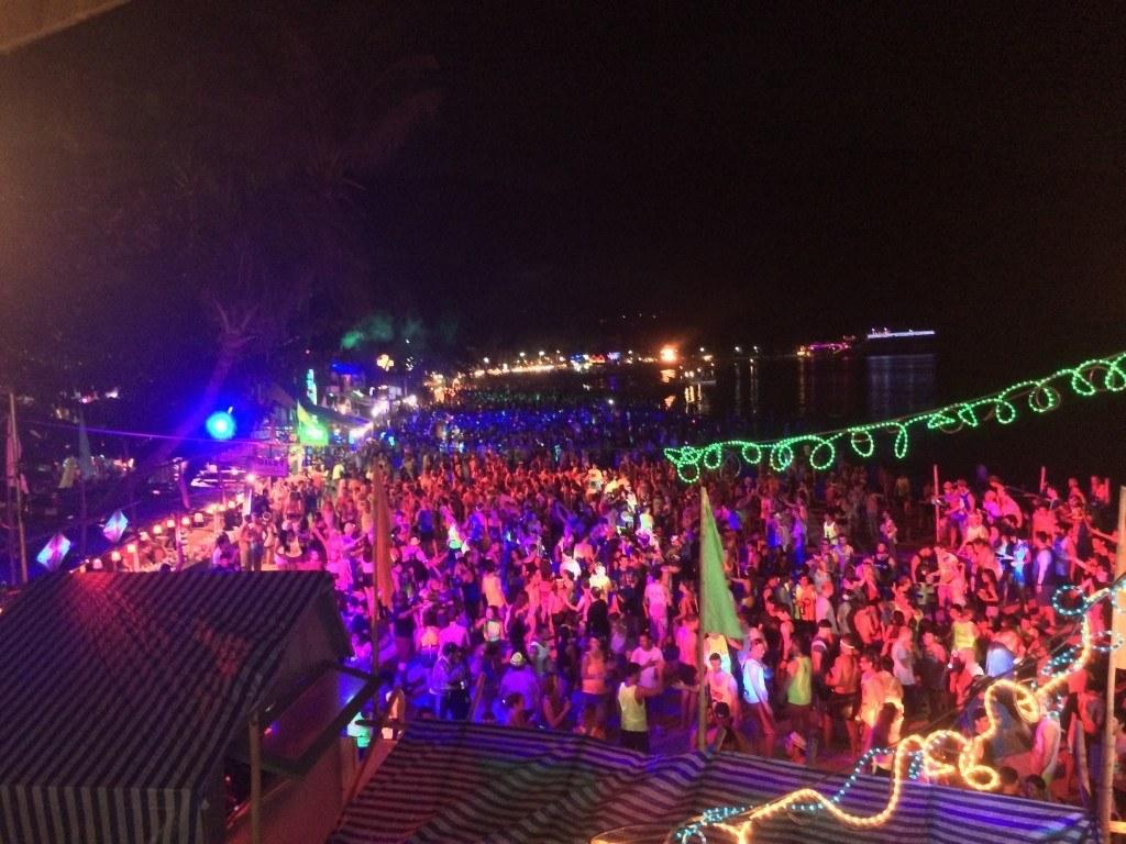fiesta de la Luna Llena Tailandia