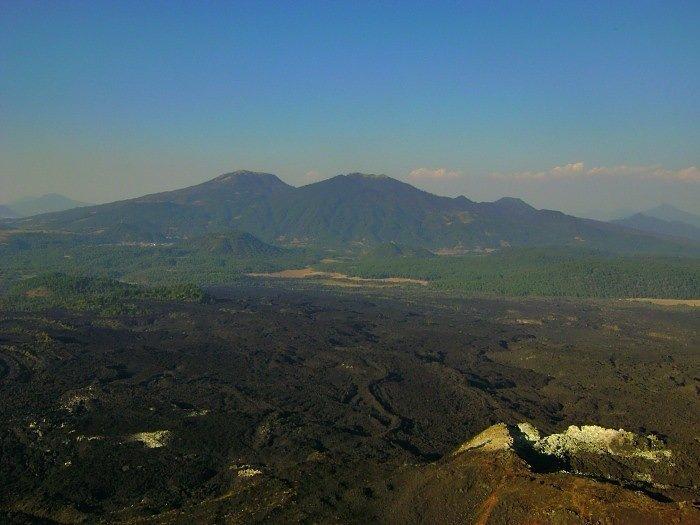 Vista desde el Volcán Paricutín