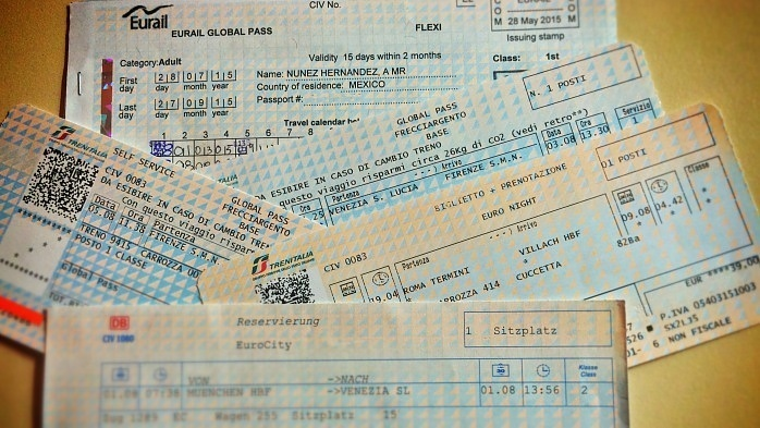 Como hacer reservas de tren en Europa