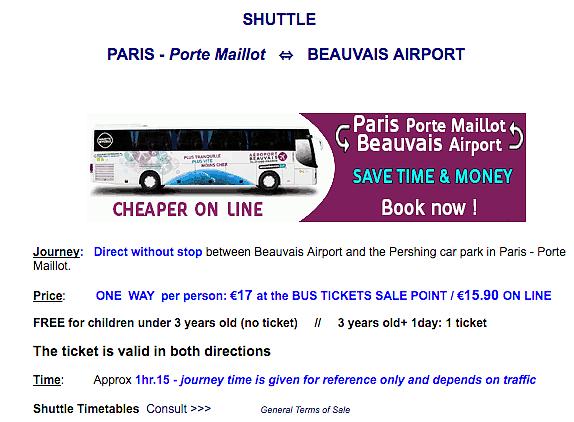 Traslado Aeropuerto Paris