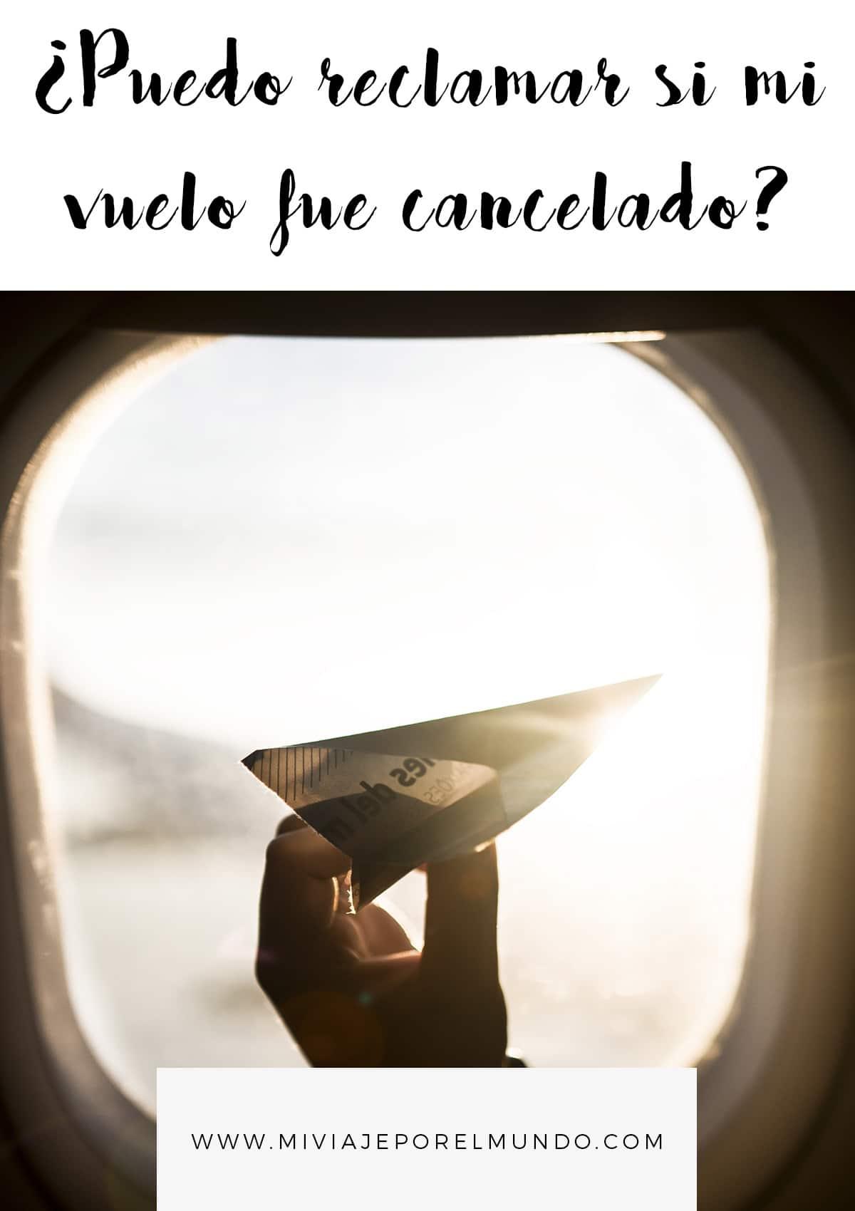 como reclamar un vuelo cancelado