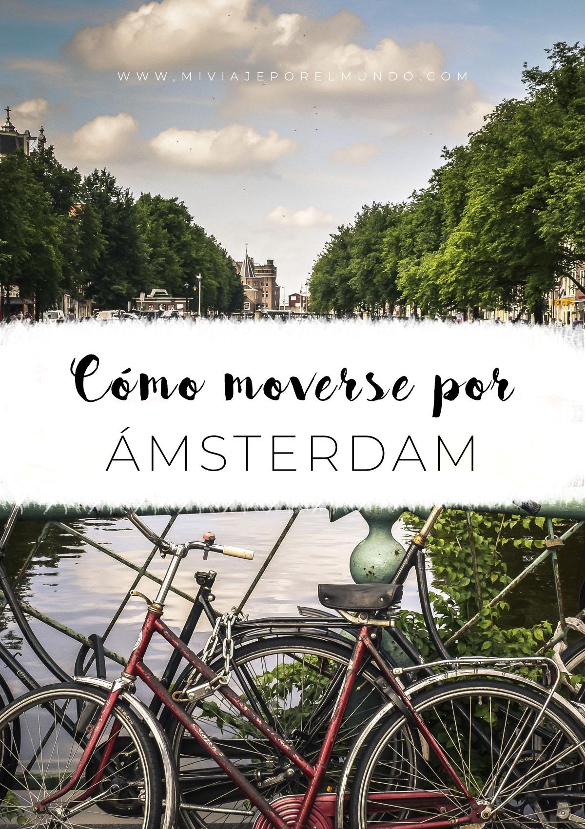 cómo moverse por amsterdam