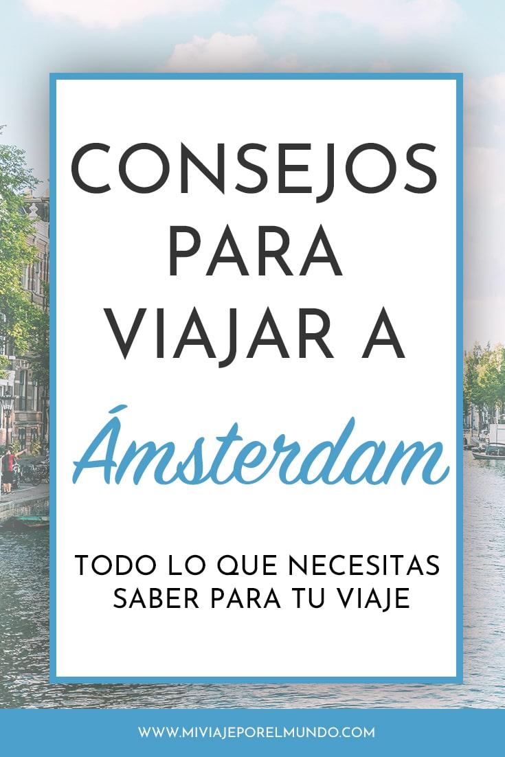 consejos para viajar a amsterdam