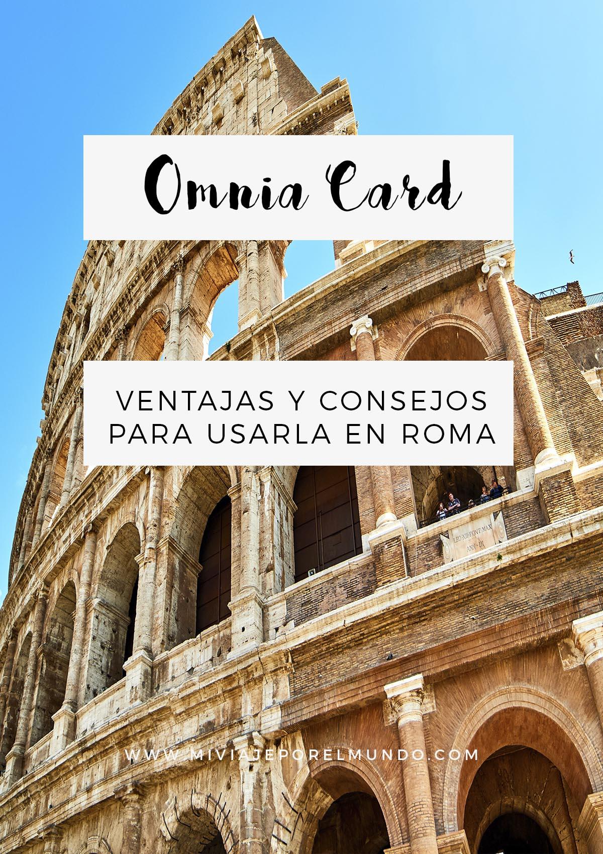 ventajas de usar la tarjeta omnia roma