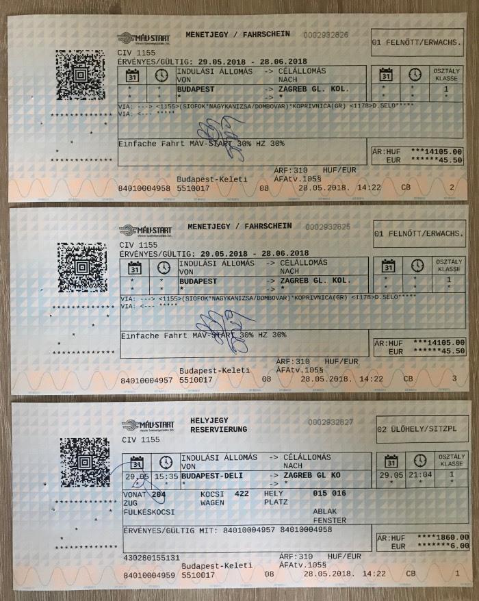 Billetes y reserva de asientos