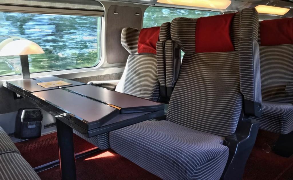 asientos en los trenes de europa