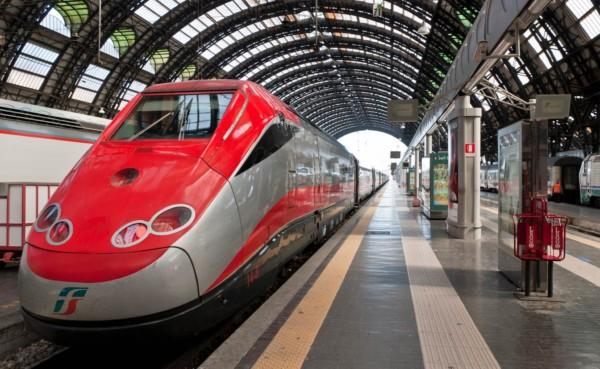 estacion de tren de milano al viajar en tren por europa