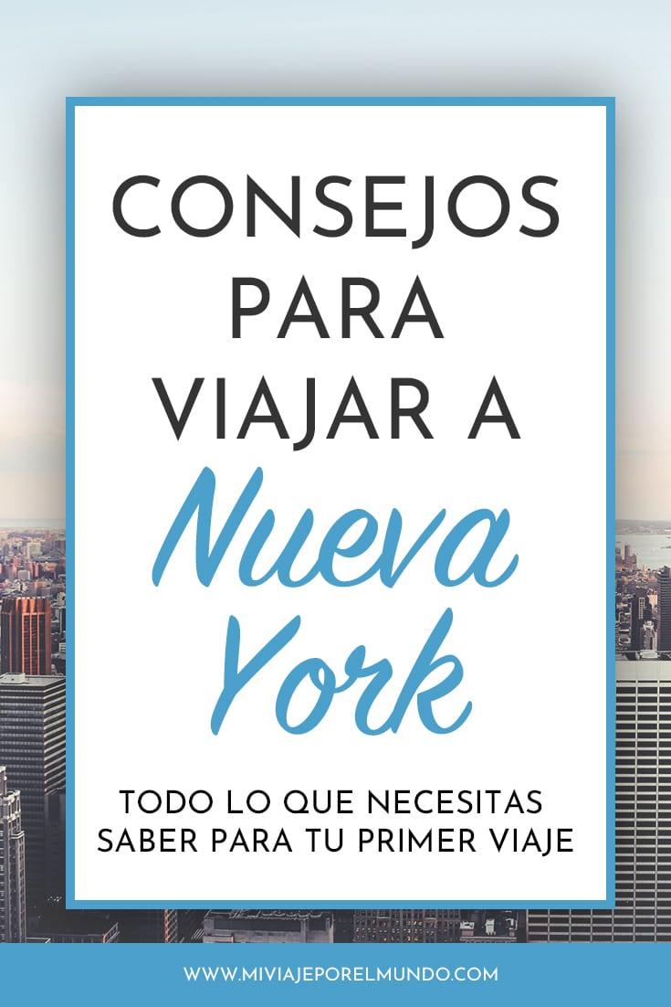 consejos para viajar a nueva york